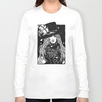 stevie nicks Long Sleeve T-shirts featuring Blacklights Stevie by Lynette K.