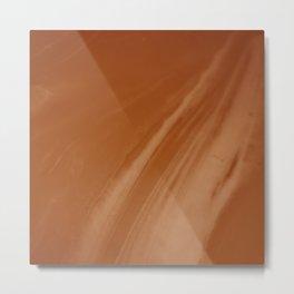 Blurred Sepia Wave Trajectory Metal Print