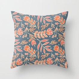 Loquacious Floral Throw Pillow