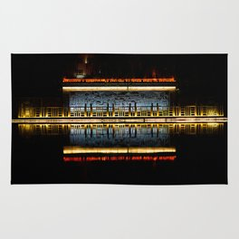 Temple reflection Rug