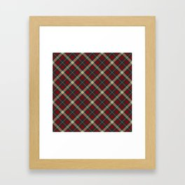 Holiday Plaid 17 Framed Art Print