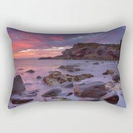 Spectacular sunrise at Kinbane Castle in Northern Ireland Rectangular Pillow