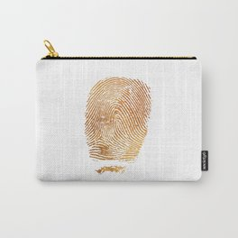 Gold Fingerprint Minimalist Modern Animal Print Selfie Bohemian Chic Fashion Carry-All Pouch