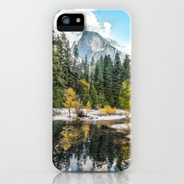 Yosemite's Half Dome After a Snowfall iPhone Case