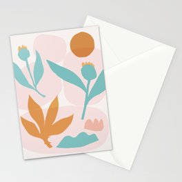 Abstraction_Floral_Minimalism_Beautiful_Day Stationery Cards