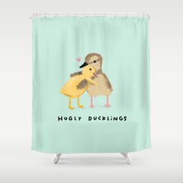 Hugly Ducklings Shower Curtain