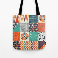alisa burke Tote Bags featuring OUT OF AFRICA by Daisy Beatrice