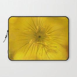 Yellow Bokeh Flower Laptop Sleeve