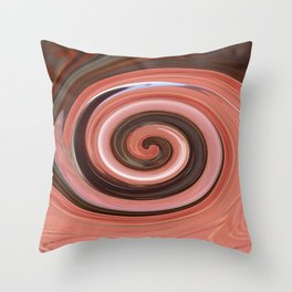 Swirl 01- Colors of Rust / RostArt Throw Pillow