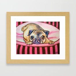 Pugs & Kisses Framed Art Print