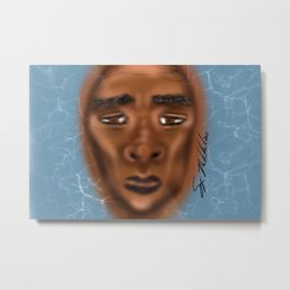 Barely Above Water Metal Print