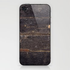 Vintage Black Wood iPhone & iPod Skin