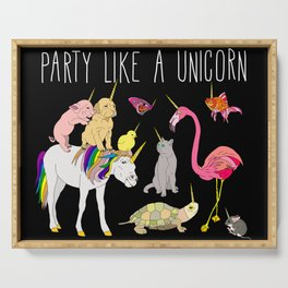 Funny Unicorn Party Serving Tray