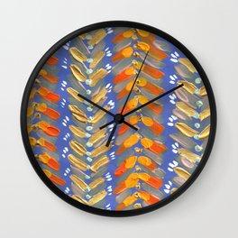 Blush Chevron Wall Clock