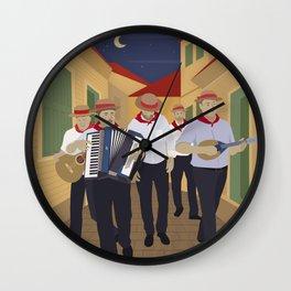 Lefkada, Minstrels in the alley (GR) Wall Clock