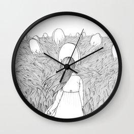 Goodbye Line Version Wall Clock