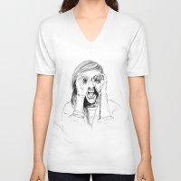 ellie goulding V-neck T-shirts featuring Ellie Goulding by Sophie Melissa
