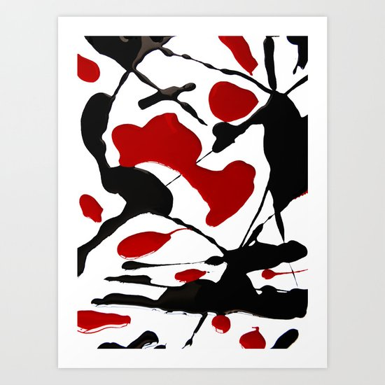 BLOOD IN Art Print