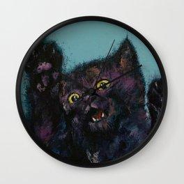 Ninja Kitten Wall Clock
