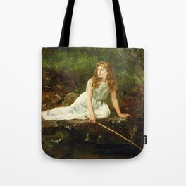 """John Collier """"The Butterfly inscribed 'Portrait of Mabel...'"""" Tote Bag"""