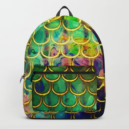 Scales Edged in Gold Backpack