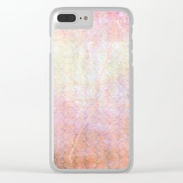 Pink & Purple Clear iPhone Case