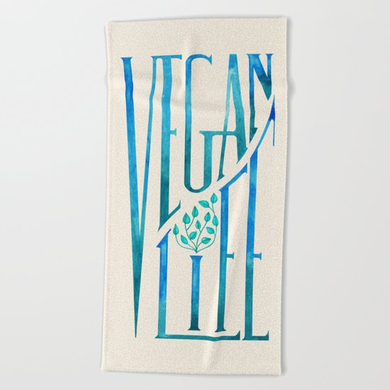 Vegan Life Beach Towel