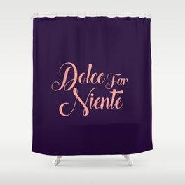 happy lettering motivation Shower Curtain