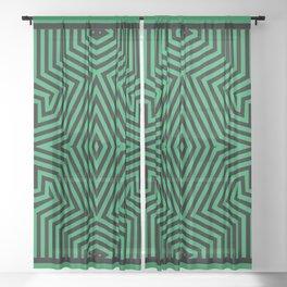 African Geometric Tribal Pattern Sheer Curtain
