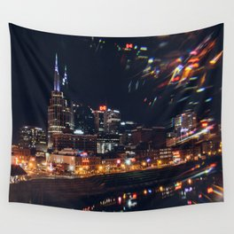 Music City Lights - Nashville Wall Tapestry