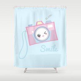Camera Kawaii Shower Curtain