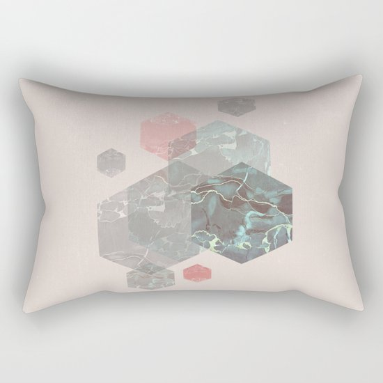 Exagonal Love Rectangular Pillow