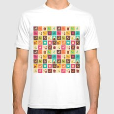 Christmas square pattern 02 MEDIUM Mens Fitted Tee White