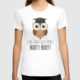 Con-grad-ulations! Hoot! Hoot! T-shirt
