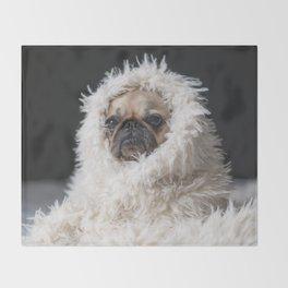 PUG VIBES Throw Blanket