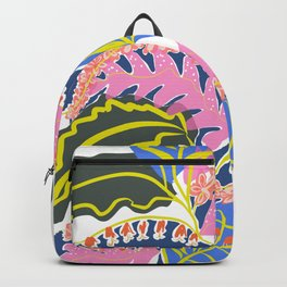 Pink Leaves and Red Flowers Backpack