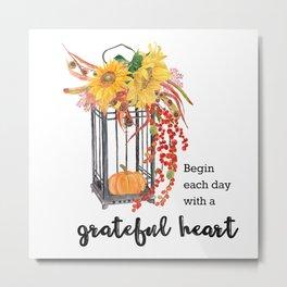 Grateful heart Metal Print