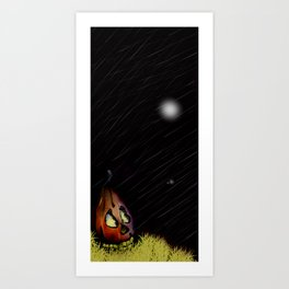 Pumpkin Ghostly Evening Art Print