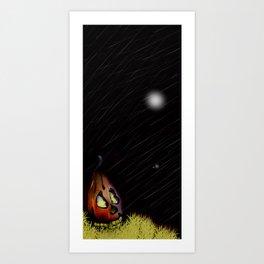 Pumpkin Ghostly Evening Art Print