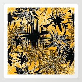 Yellow Chaos Art Print