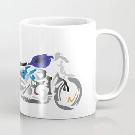 Motorcycle with Flaming Exhaust Coffee Mug