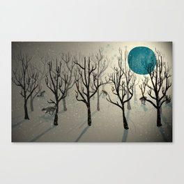 Among the Wolves... Canvas Print