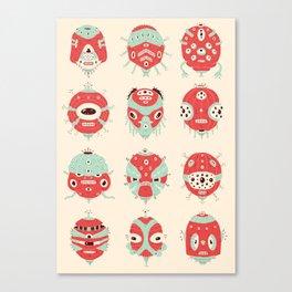 Robot Heads Canvas Print