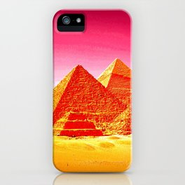 Pyramids At Giza Pink Sunset iPhone Case