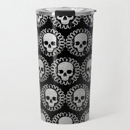 Silver Skulls Travel Mug