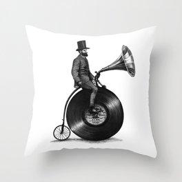 Music Man (monochrome option) Throw Pillow