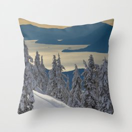 LIMITED EDITION (Almost sold out)  - KEVIN SANSALONE / HOWE SOUND SQUAMISH BC Throw Pillow