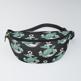 Sea Turtle Anchor Fanny Pack