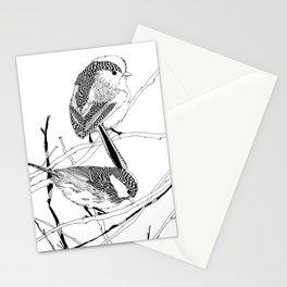 birds on white Stationery Cards