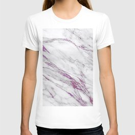 Gray and Ultra Violet Marble Agate T-shirt